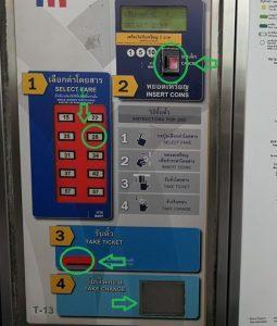 バンコクBTS券売機