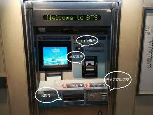 BTS キップ自販機