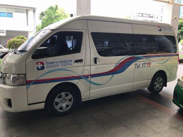 バンコク病院のシャトルバス