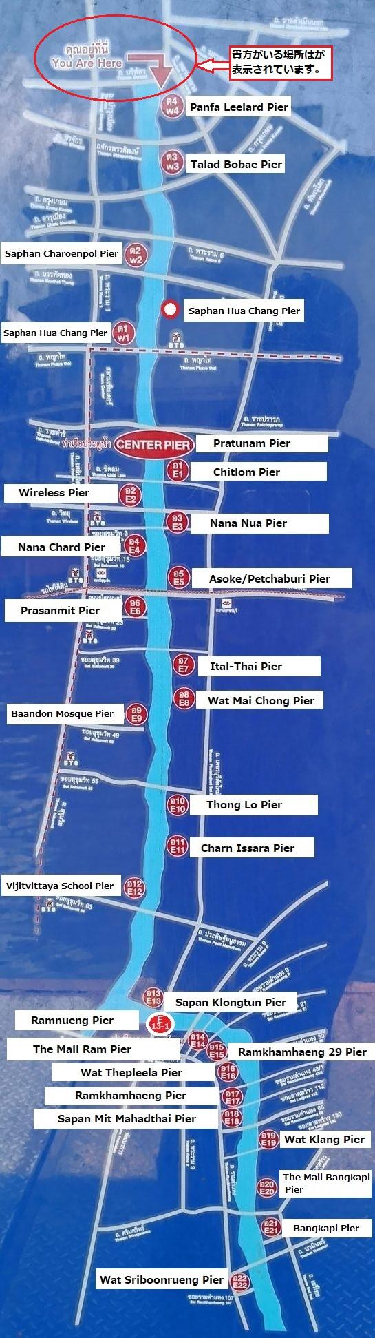センセープ運河ボート路線図
